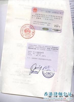 土耳其使馆认证样本