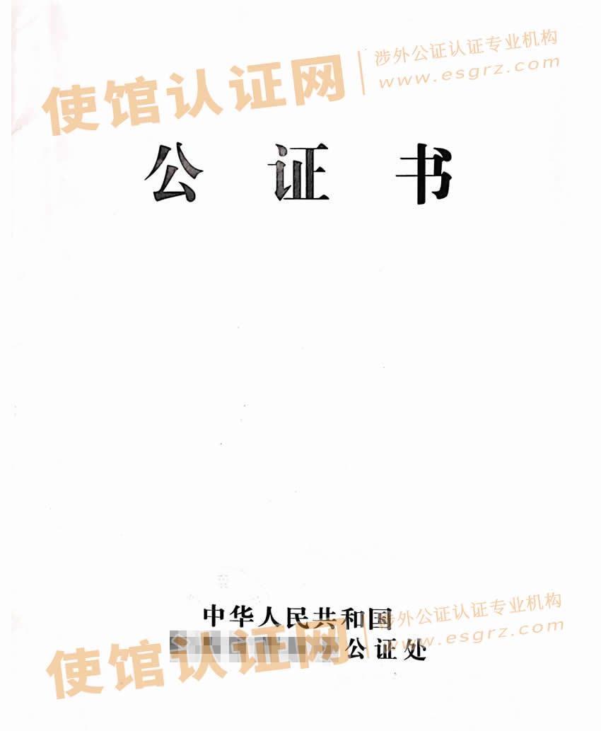中国结婚证使馆认证样本